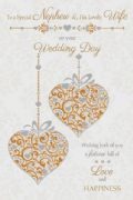 Nephew & His Lovely Wife Wedding Day Card